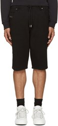 Diesel Black Knit Kroshort Shorts