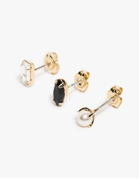 Bing Bang Stud Trio Yellow Gold