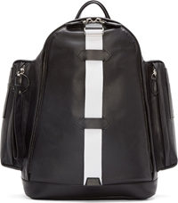 Givenchy Black Leather Cargo Backpack
