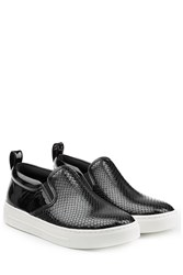 Marc By Marc Jacobs Slip On Patent Leather Sneakers Black