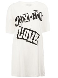 Faith Connexion 'Love' Print T Shirt White