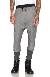 Nlst Ribbed Cargo Pants In Gray