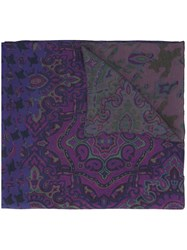 Etro Abstract Print Scarf Multicolour
