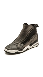 Ash Fara High Top Sock Sneakers Black Graphite Black