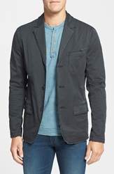Jeremiah 'Wells' Regular Fit Twill Blazer Phantom Grey