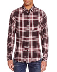 Rails Lennox Plaid Regular Fit Button Down Shirt Charcoal Red