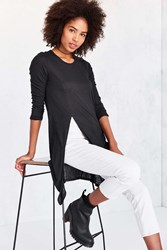 Silence And Noise No More Drama Maxi Tunic Top Charcoal