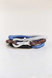Urban Outfitters Three Shades Wrap Bracelet Black Multi