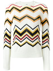 Vanessa Bruno Athe Chevron Knit Jumper Nude And Neutrals