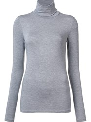Majestic Filatures High Neck Longsleeved T Shirt Grey