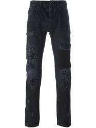 Diesel Black Gold Distressed Slim Jeans
