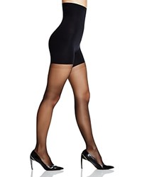 Spanx Luxe Leg High Waisted Sheer Tights 20024R Very Black