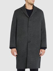 Acne Studios Charcoal Charlie Wool And Cashmere Coat Grey