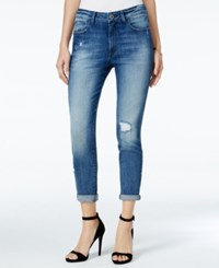 Dl 1961 Jessica Alba No. 6 Ripped Slouchy Skinny Scratched Wash Jeans