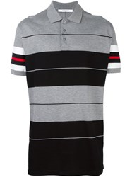 Givenchy Colour Block Polo Shirt Black