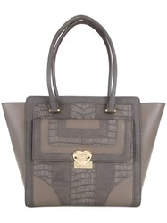 Love Moschino Gold Tone Hardware Shoulder Bag Grey