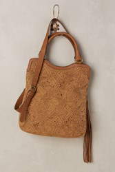 Anthropologie Montana Lasercut Tote Neutral Motif