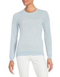 Lord And Taylor Basic Crewneck Cashmere Sweater Sky Blue Heather