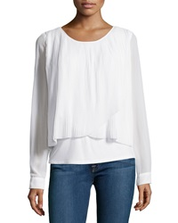 Chelsea And Theodore Pleated Wrap Detail Blouse Ivory