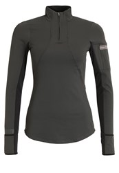 Gore Running Wear Air Lady Sports Shirt Raven Brown Black Dark Grey