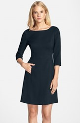 Vince Camuto Women's Crepe A Line Dress Navy
