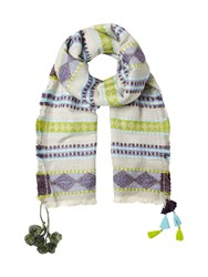 White Stuff Wilding Midweight Scarf Multi Coloured