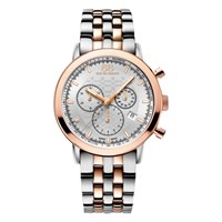 88 Rue Du Rhone 87Wa154204 Men's Double 8 Origin Rose Gold Plated Stainless Steel Bracelet Strap Watch Silver Rose Gold