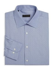 Ike Behar Geometric Dress Shirt Blue