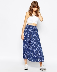 American Apparel Ditsy Print Maxi Full Woven Skirt Whitedaisychain