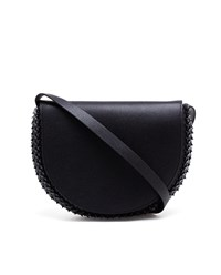 Paco Rabanne Half Moon Leather Bag Black Silver