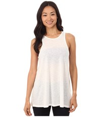Rvca Label Tunic Vintage White Women's Sleeveless Beige