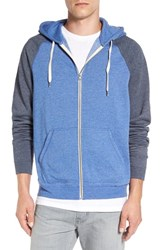 Men's 1901 'Denny' Two Tone Raglan Zip Fleece Hoodie