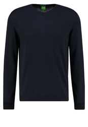 Hugo Boss Green Carlton Regular Fit Jumper Dark Blue