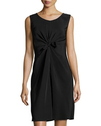 Philosophy Di Alberta Ferretti Knotted Front Sleeveless Dress Black