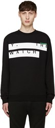 Mcq By Alexander Mcqueen Black And White Text Pullover