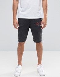 Blend Of America Raw Hem Sweat Shorts In Grey Charcoal