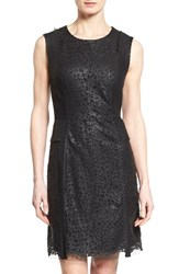 Women's Kobi Halperin 'Finley' Laser Cut Leather Sheath Dress