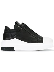 Cinzia Araia Extended Sole Slip On Sneakers Black