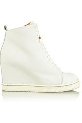 Mm6 Maison Margiela Perforated Suede Ankle Boots