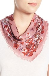 Women's Collection Xiix Floral Handkerchief Scarf Pink Shadow Pink