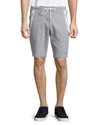 Moncler Zip Pocket Knit Sweat Shorts Gray Size Xx Large