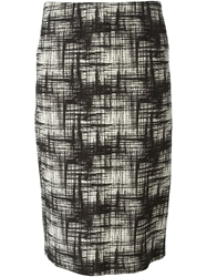 Erika Cavallini Semi Couture Textured Straight Skirt Black