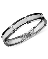 Macy's Men's Ceramic Bracelet Black And White Bracelet