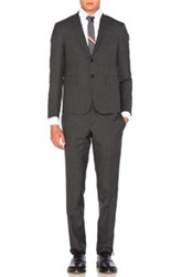 Thom Browne Plain Weave Suit In Gray