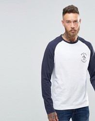 Original Penguin Baseball Long Sleeve T Shirt White