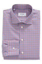 Eton Men's Slim Fit Check Dress Shirt Purple