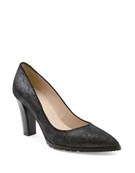 Andre Assous Sandy Suede Point Toe Pumps Pewter