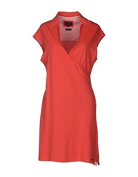Woolrich Short Dresses Coral