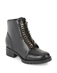 Karl Lagerfeld Bernice Chainlink Accented Ankle Boots Black