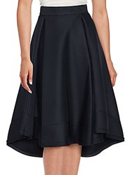 Nicholas Folded Mesh Ball Skirt Black